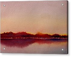 Acrylic Print featuring the painting Shimmering Lights by Vikki Bouffard
