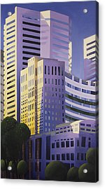 Shining Towers Acrylic Print by Duane Gordon