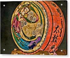 Shinto Drum Acrylic Print by Karen Walzer