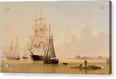 Ship Painting Acrylic Print by WF Settle