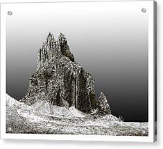 Shiprock Mountain Four Corners Acrylic Print by Jack Pumphrey