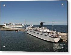 Ships At Port Acrylic Print by Jaak Nilson