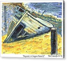 Shipwreck On Laguna Madre II Acrylic Print by Robert Wolverton Jr
