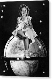Shirley Temple, Fox Film Portrait, Ca Acrylic Print by Everett