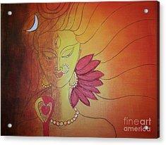 Shivshakti - Ardhnaarishwar Acrylic Print by Anu Darbha