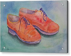 Shoes Of A Different Colour Acrylic Print by Laurel Thomson