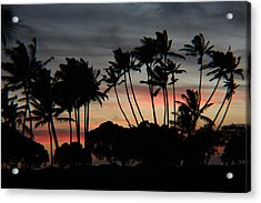 Shooting The Sunset Acrylic Print by Raquel Amaral