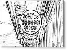 Shop Signs French Quarter New Orleans Photocopy Digital Art Acrylic Print by Shawn O'Brien