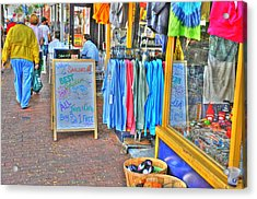 Shopping Acrylic Print by Barry R Jones Jr