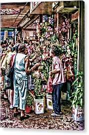 Shopping In Chinatown Acrylic Print by Anne Ferguson