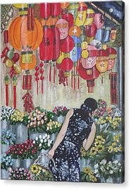 Shopping In Chinatown Acrylic Print by Kim Selig