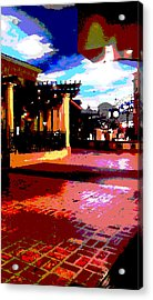 Shops Acrylic Print by David Alvarez