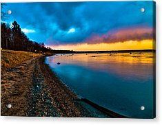 Shoreline Acrylic Print by Jason Naudi Photography