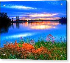 Acrylic Print featuring the photograph Shoreline Sundown by Randall Branham