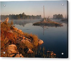 Shorelines Black  River Lake Acrylic Print