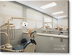 Shot Of Room In Dental School Acrylic Print by Skip Nall