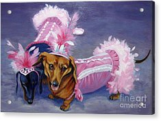 Acrylic Print featuring the painting Show Girls by Pat Burns