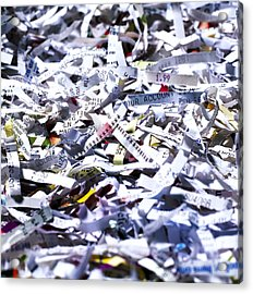 Shredded Documents Acrylic Print by Kevin Curtis