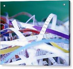 Shredded Paper Acrylic Print by Martin Bond