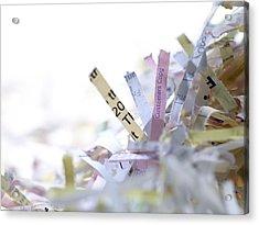 Shredded Paper Acrylic Print by Tek Image