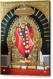 Shree Shirdi Sai Baba Acrylic Print by Ashok  Sharma