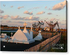 Acrylic Print featuring the photograph Shrimp Boats And Cemetery by Jeanne  Woods