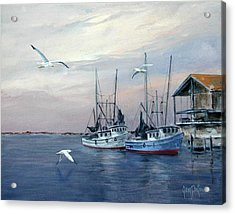 Shrimp Boats At Joe Patti's Acrylic Print