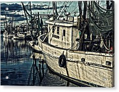 Shrimpers Acrylic Print by Denis Lemay