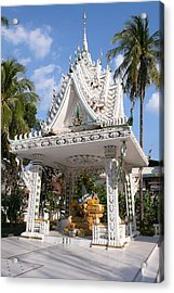 Shrine At Wat Inpeng Acrylic Print by Gregory Smith