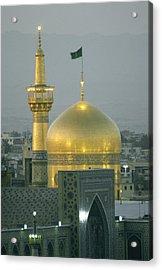 Shrine Of Imam Reza,  Eighth Shiite Acrylic Print by Martin Gray