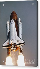 Shuttle Lift-off Acrylic Print by Science Source