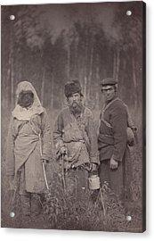Siberia, Three Escaped Convicts Acrylic Print by Everett