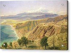 Sicily - Taormina Acrylic Print by John Brett