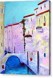 Side Canal Of Venice Acrylic Print