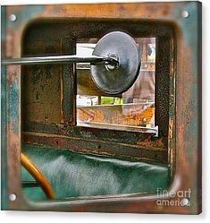 Side View Window Acrylic Print by David  Hubbs