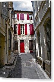 Sidestreet In Arles Acrylic Print by David Ritsema