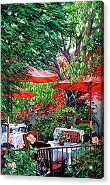 Sidewalk Cafe Acrylic Print by Lisa Reinhardt