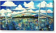 Sidney Lanier Bridge Acrylic Print by Doralynn Lowe