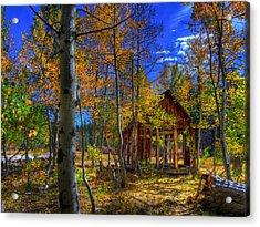 Sierra Nevada Fall Colors Barn Acrylic Print by Scott McGuire