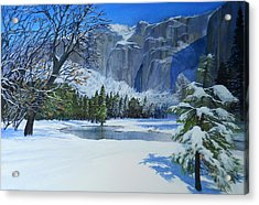 Sierra Winter Acrylic Print by Robert Duvall