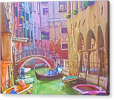 Siesta Time In Venice Acrylic Print