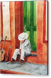 Acrylic Print featuring the painting Siesta Time by Tom Riggs