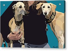 Sighthounds Acrylic Print by Kris Hackleman