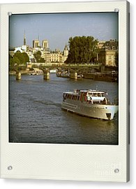 Sightseeings On The River Seine In Paris Acrylic Print