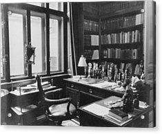 Sigmund Freuds Writing Desk Acrylic Print by Everett