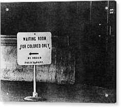 Sign Reading Waiting Room For Colored Acrylic Print by Everett