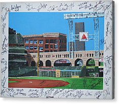 Signed Minute Maid Acrylic Print by Leo Artist