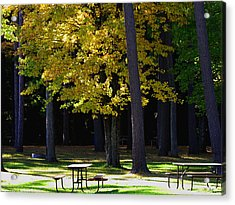 Silence In The Park Acrylic Print by Ms Judi