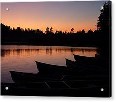 Acrylic Print featuring the photograph Silence Of Lake Bradley Reflections by Cindy Wright
