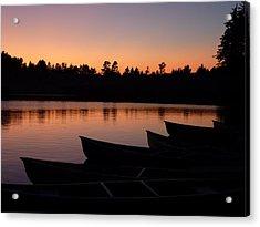 Silence Of Lake Bradley Reflections Acrylic Print by Cindy Wright